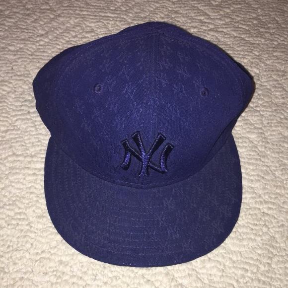5c3bc76f NEW ERA NY YANKEE FITTED NAVY BLUE 7 3/8 HAT MLB